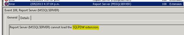 MS BICOE | SSRS 2012: Report Server cannot load the TERADATA/SQLPDW